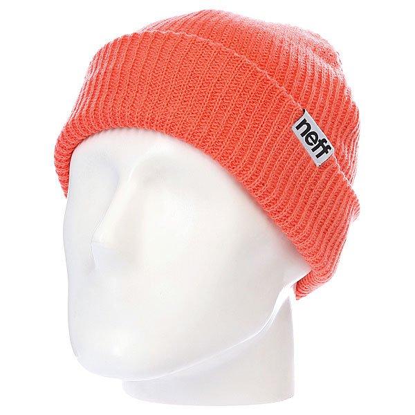 Шапка Neff Fold Coral<br><br>Цвет: оранжевый<br>Тип: Шапка<br>Возраст: Взрослый
