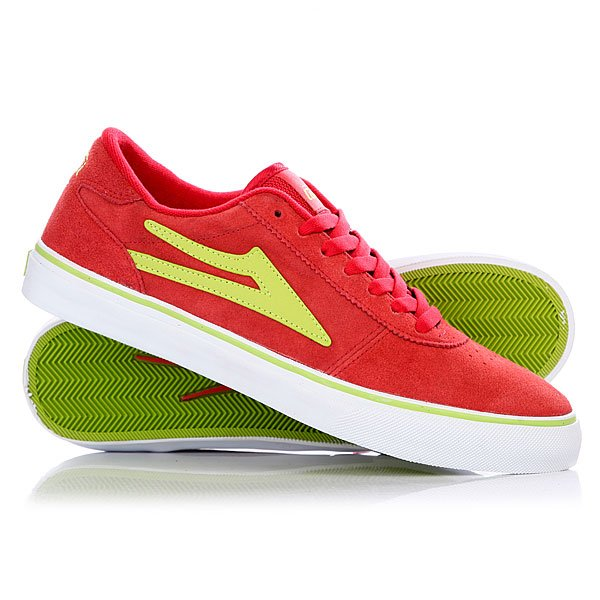 Кеды низкие Lakai Manchester Red Lime