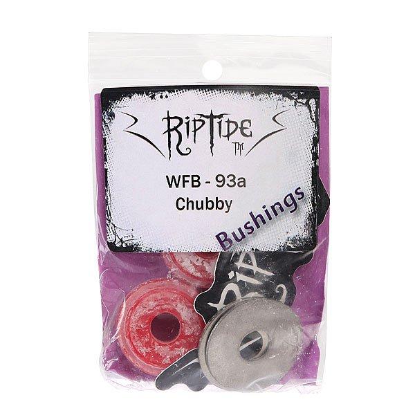 Амортизаторы для скейтборда RipTide Chubby Bushings Red 93 A от Proskater