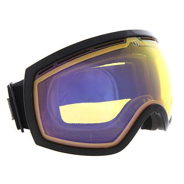 Маска для сноуборда Electric EG2 Gloss Black Yellow/Blue Chrome
