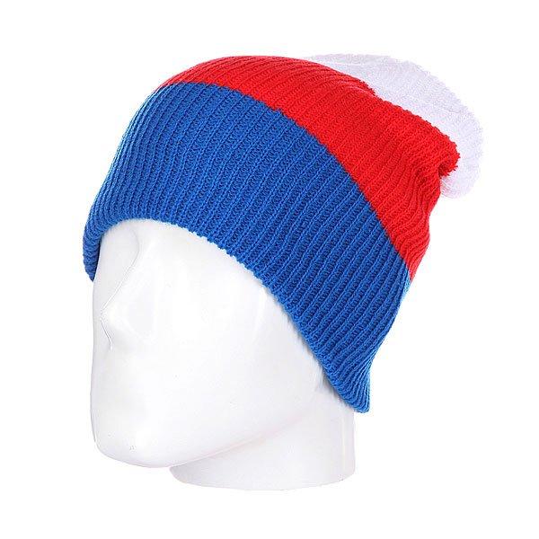Шапка носок Neff Trio Blue/Red/White<br><br>Цвет: красный,синий,белый<br>Тип: Шапка носок<br>Возраст: Взрослый