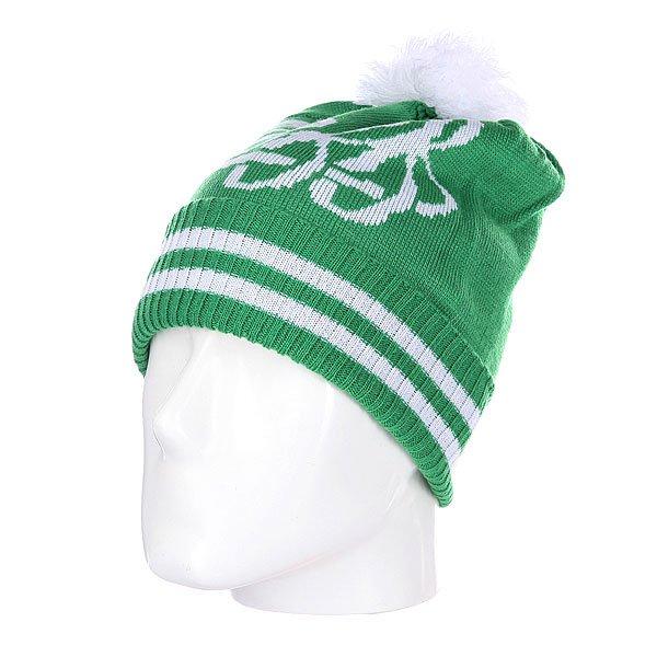 Шапка с помпоном Neff Varsity Green<br><br>Цвет: зеленый,белый<br>Тип: Шапка<br>Возраст: Взрослый