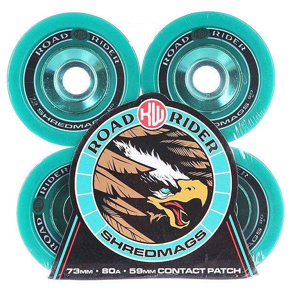 Колеса для скейтборда для лонгборда Road Rider Shred Mags Teal 80A 73 mm