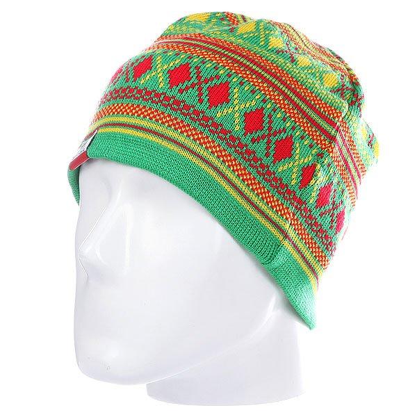 Шапка женская Nor Cal Hibernate Green/Yellow/Red<br><br>Цвет: зеленый<br>Тип: Шапка<br>Возраст: Взрослый<br>Пол: Женский