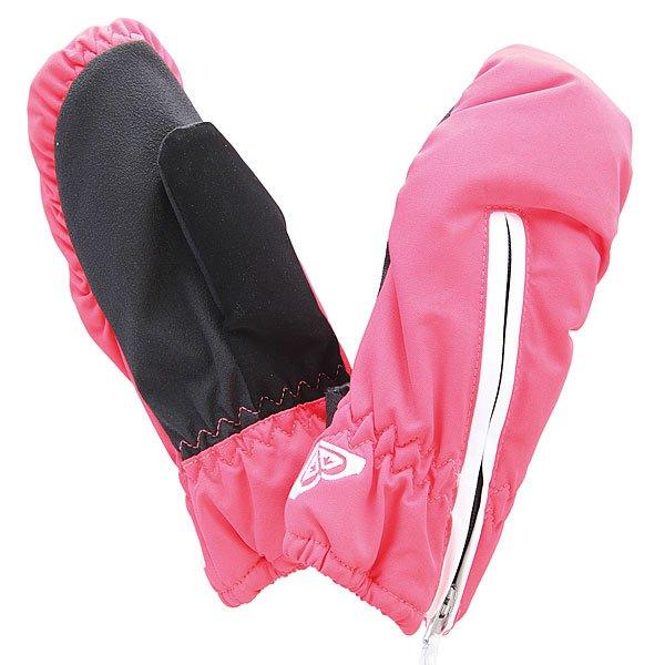 Варежки сноубордические детские Roxy Snow Mitt Solid Diva Pink