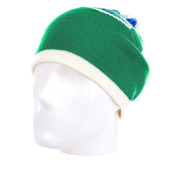 Шапка с помпоном Burton Frank Beanie Turf<br><br>Цвет: зеленый<br>Тип: Шапка<br>Возраст: Взрослый