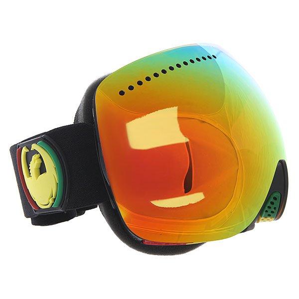 Маска для сноуборда Dragon Apx Rasta/Redion + Yellow Blue IonТехнические характеристики:  Цилиндрическая  форма линз.  Infinity Lens Technology  обеспечивает максимальный обзор.  Технология антибликового защитного покрытия линз (на 100% защищает от ультрафиолетового излучения (блокирует вредное UVA, UVB, UVC излучение, а также ультрафиолетовое излучение до 400 NM).  Технология антизапотевания линзы Super Anti-Fog.  Вентиляционные отверстия сверху маски.  Гибкая оправа из полиуретана.  Внутреннее покрытие из защитной тройной формирующей пены для лучшего прилегания маски к лицу и потоотведения.  Линзы с устойчивым к царапинам покрытием. В месте соприкосновения с лицом дополнительный слой нежного поглощающего влагу флиса Polartec. Линзы с устойчивым к царапинам покрытием. Регулируемый широкий ремешок с накладкой против скольжения.  Совместимость со всеми видами шлемов.  Оптимизирована для средней и большой формы лица.  Светопередача –19-22 % (Лучше всего подходит для яркого солнца, добавляет четкости и защищает от яркого света). Дополнительная сменная линза в комплекте (Светопередача – 48-57%, подходит для меняющихся условий освещения от слабого освещения до облачной погоды, добавляет четкости и защищает от яркого света.)<br><br>Цвет: оранжевый<br>Тип: Маска для сноуборда<br>Возраст: Взрослый<br>Пол: Мужской