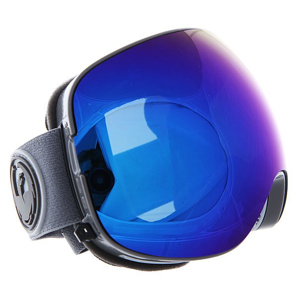 Маска для сноуборда Dragon X2 Grey Matter/Dark Smoke Blue + Yellow Red IonТехнические характеристики:  Цилиндрическая  форма линз.  Infinity Lens Technology  обеспечивает максимальный обзор. Технология антибликового защитного покрытия линз (на 100% защищает от ультрафиолетового излучения (блокирует вредное UVA, UVB, UVC излучение, а также ультрафиолетовое излучение до 400 NM).  Технология антизапотевания линзы Super Anti-Fog.  Оптически корректные линзы. Гибкая оправа из полиуретана.  Внутреннее покрытие из защитной тройной формирующей пены для лучшего прилегания маски к лицу и потоотведения.  В месте соприкосновения с лицом дополнительный слой нежного поглощающего влагу флиса Polartec. Линзы с устойчивым к царапинам покрытием. Регулируемый ремешок с накладкой против скольжения.  Совместимость со всеми видами шлемов.  Оптимизирована для средней и большой формы лица.  Светопередача –5-10% (устраняет самый яркий солнечный свет). Светопередача – 79%, подходит для вечернего катания и катания в условиях плохой видимости.<br><br>Цвет: синий<br>Тип: Маска для сноуборда<br>Возраст: Взрослый<br>Пол: Мужской