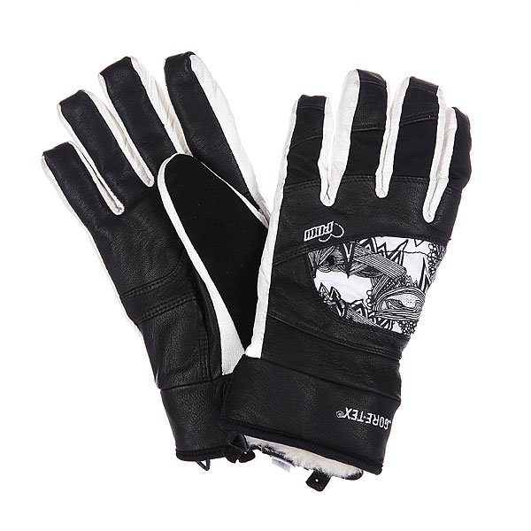 Перчатки сноубордические женские Pow Feva Glove Gtx Black перчатки сноубордические dakine scout glove rasta