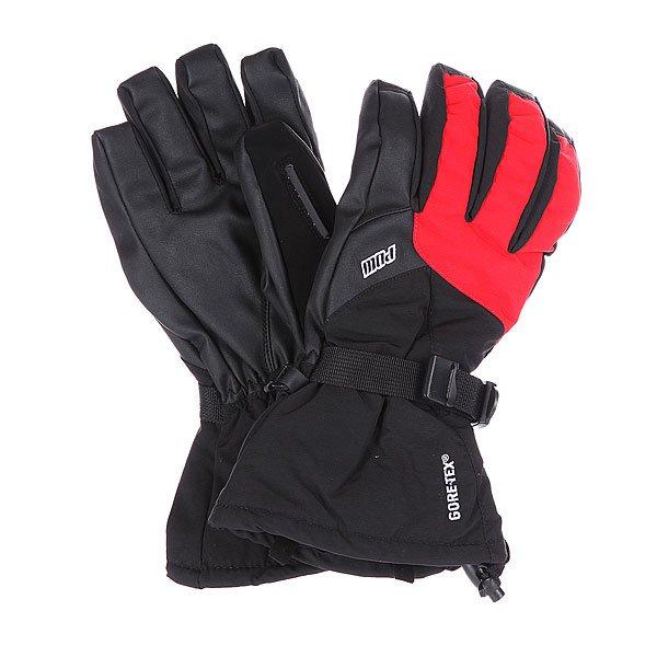 Перчатки сноубордические Pow Warner Glove Black/Red перчатки сноубордические dakine scout glove rasta