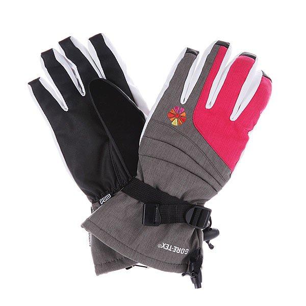 Перчатки сноубордические женские Pow Falon Grey/Glove Pink