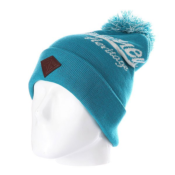 Шапка с помпоном Запорожец Logo Beanies Blue