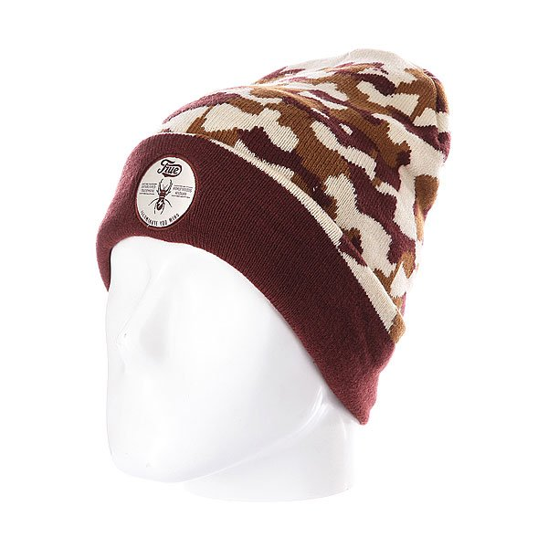 Шапка TrueSpin Bug Classic Beanie Brown/Beige<br><br>Цвет: коричневый,бежевый<br>Тип: Шапка<br>Возраст: Взрослый<br>Пол: Мужской