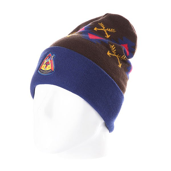 Шапка TrueSpin Native Wisdom Classic Beanie Navy/Brown шапка truespin splatter player beanie navy