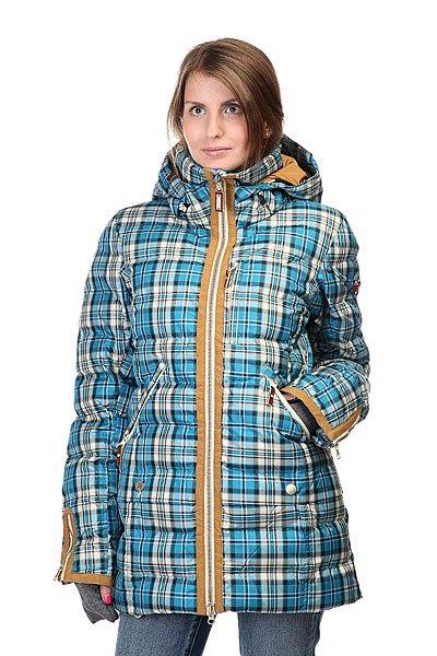 Куртка женская Roxy Torah Bright Influencer Jk Plaid Ocean Depths