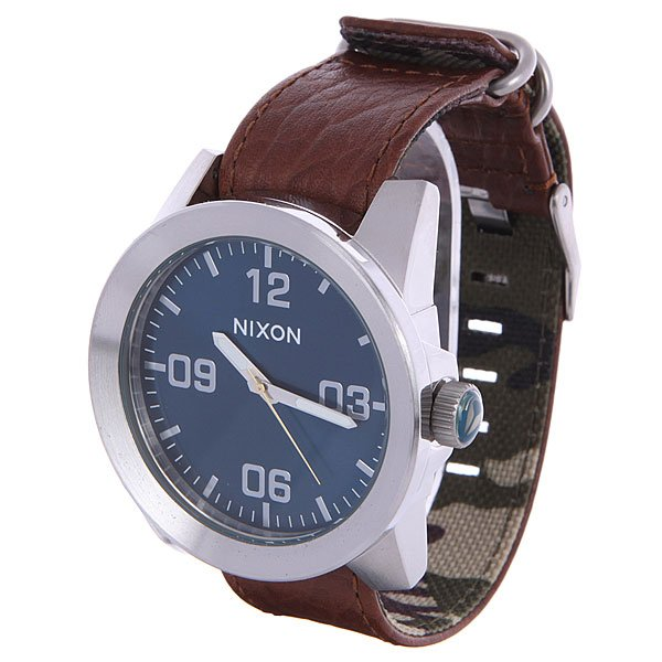 Часы Nixon Corporal Brown/Blue Sunray часы nixon corporal ss blue sunray