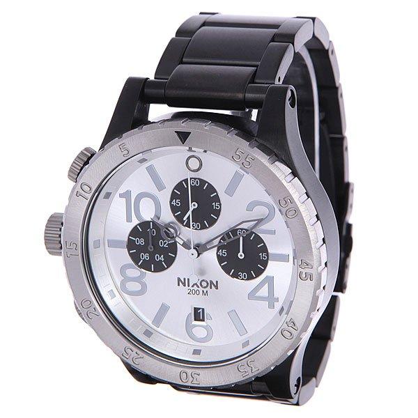 Часы Nixon 48-20 Chrono Black/Silver часы nixon corporal ss matte black industrial green