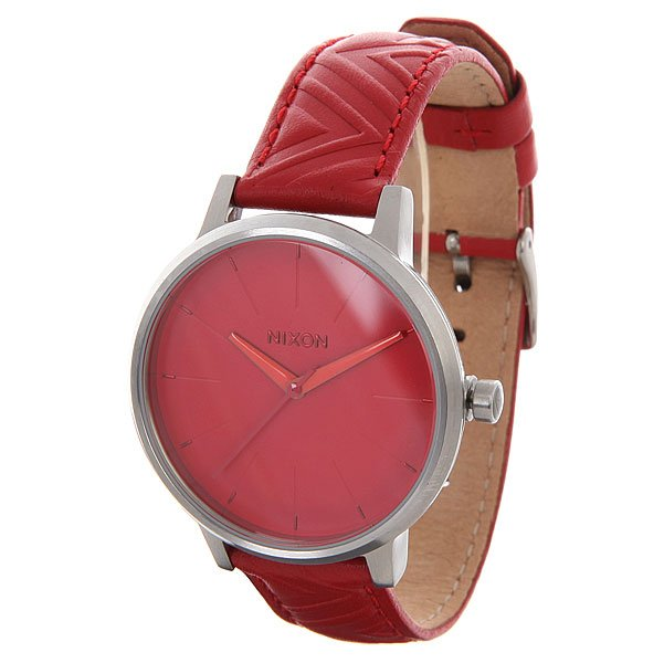 Часы женские Nixon Kensington Leather Red/Mod nixon часы nixon a099 710 коллекция kensington