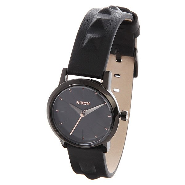 Часы женские Nixon Kenzi Leather All Black/Studded