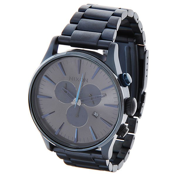 Часы Nixon Sentry Chrono Deep Blue кварцевые часы nixon sentry chrono black multi