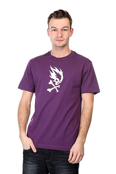 Футболка Pyromaniac Flame Skull  Purple