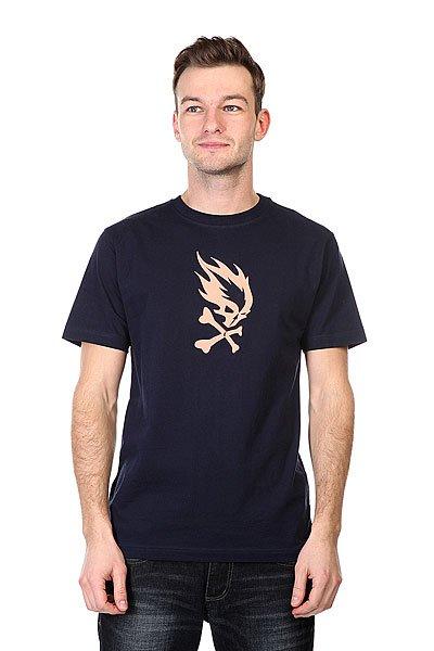 Футболка Pyromaniac Flame Skull  Navy