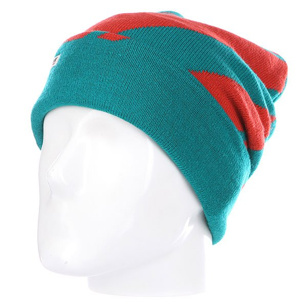 Шапка носок TrueSpin Lines Green/Red<br><br>Цвет: зеленый,оранжевый<br>Тип: Шапка носок<br>Возраст: Взрослый