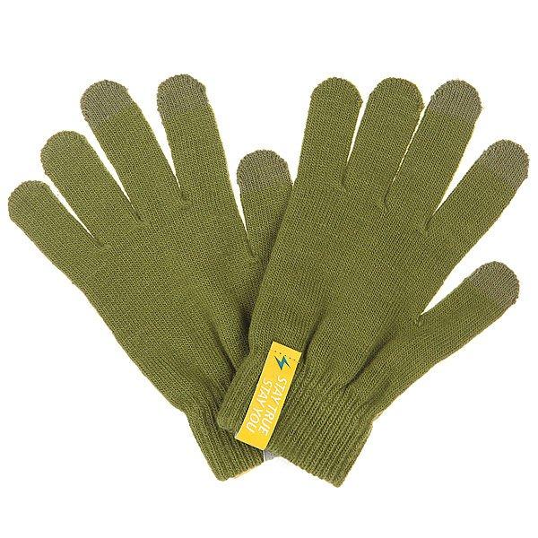 Перчатки TrueSpin Touchgloves OliveЗимние перчатки от немецкого бренда True Spin с сенсорными пальцами, которые позволяют пользоваться смартфоном или планшетом не снимая их с рук.Технические характеристики: Вязаные перчатки.Специальная обработка на кончиках пальцев для пользования сенсорными устройствами.Эластичные манжеты.<br><br>Цвет: зеленый<br>Тип: Перчатки<br>Возраст: Взрослый<br>Пол: Мужской