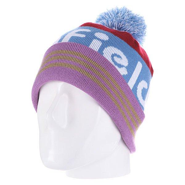 Шапка с помпоном Penfield Sanford/Logo Bobble Beanie Blue<br><br>Цвет: синий<br>Тип: Шапка<br>Возраст: Взрослый