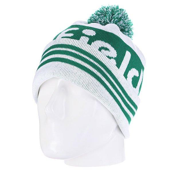 Шапка с помпоном Penfield Sanford/Logo Bobble Beanie Green<br><br>Цвет: зеленый<br>Тип: Шапка<br>Возраст: Взрослый