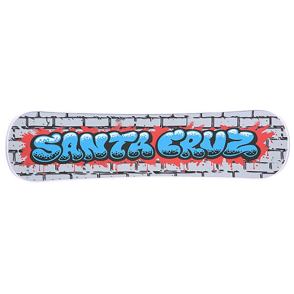 Сноускейт Santa Cruz Bubble Graffiti White Plank
