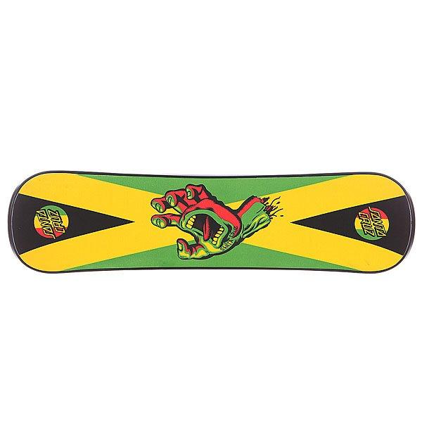 Сноускейт Santa Cruz Rasta Hand Black PlankУникальная форма и меньший вес в сноускейте от Santa Cruz позволит вашей доске вращаться быстрее, а вам получать максимум удовольствия от катания.Технические характеристики: Симметричная форма True Twin.Прогиб Surf Rocker - это слабовыраженный обратный прогиб. Доски с такой геометрией плывут как корабли по пухляку и весьма удобны для джиббинга и катания в парке.Средняя жесткость.Канавки на скользящей стороне для улучшения скольжения.Конкейв.Стиль катания All Mountain.<br><br>Цвет: зеленый,черный<br>Тип: Сноускейт
