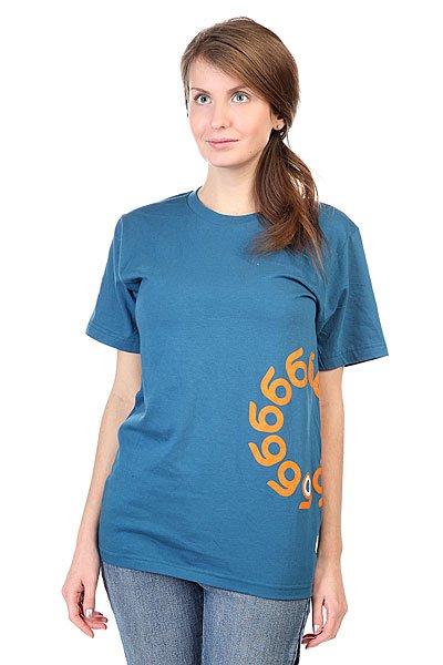 Футболка женская  Logo Organic Cotton T-shirt Blue Orangatang. Цвет: синий