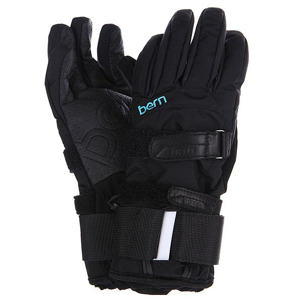 �������� ��������������� ������� Bern Womens Synthetic Gloves Removable Wristguard Black