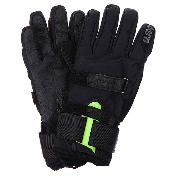 Перчатки сноубордические Bern Synthetic Removable Wristguard Gloves Black