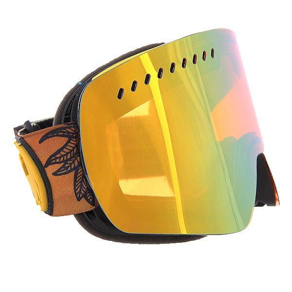 Маска для сноуборда Dragon NFXs BrineHeather/Blue Steel + Yellow