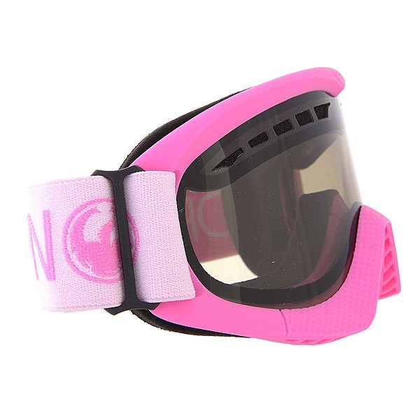 Маска для сноуборда Dragon DXS Pink/Smoke + Yellow