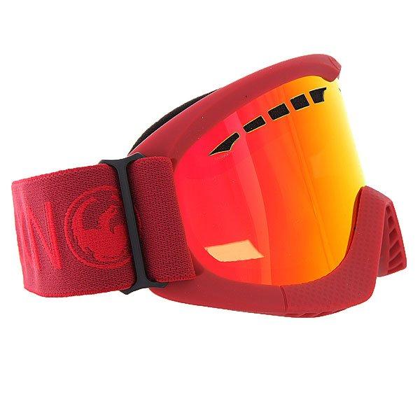 Маска для сноуборда Dragon DXS Epoch/Red IonizedТехнические характеристики:  Цилиндрическая  форма линз.  Двойная конструкция линзы из лексана.  Технология антибликового защитного покрытия линз (на 100% защищает от ультрафиолетового излучения (блокирует вредное UVA, UVB, UVC излучение, а также ультрафиолетовое излучение до 400 NM).  Технология антизапотевания линзы Super Anti-Fog.  Вентиляционные отверстия сверху маски.  Гибкая оправа из полиуретана.  Внутреннее покрытие из защитной двойной формирующей пены для лучшего прилегания маски к лицу и потоотведения.  В месте соприкосновения с лицом дополнительный слой нежного поглощающего влагу флиса  Polartec. Линзы с устойчивым к царапинам покрытием. Регулируемый ремешок с накладкой против скольжения.  Совместимость со всеми видами шлемов.  Оптимизирована для средней и маленькой формы лица.  Светопередача –19-22 % (Лучше всего подходит для яркого солнца, добавляет четкости и защищает от яркого света).<br><br>Цвет: красный<br>Тип: Маска для сноуборда<br>Возраст: Взрослый<br>Пол: Мужской