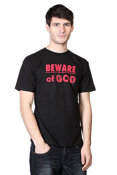 Футболка Neff 3d Beware Of God Black