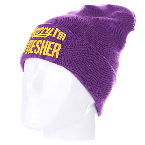 Шапка TrueSpin Sorry Beanies Purple/Yellow
