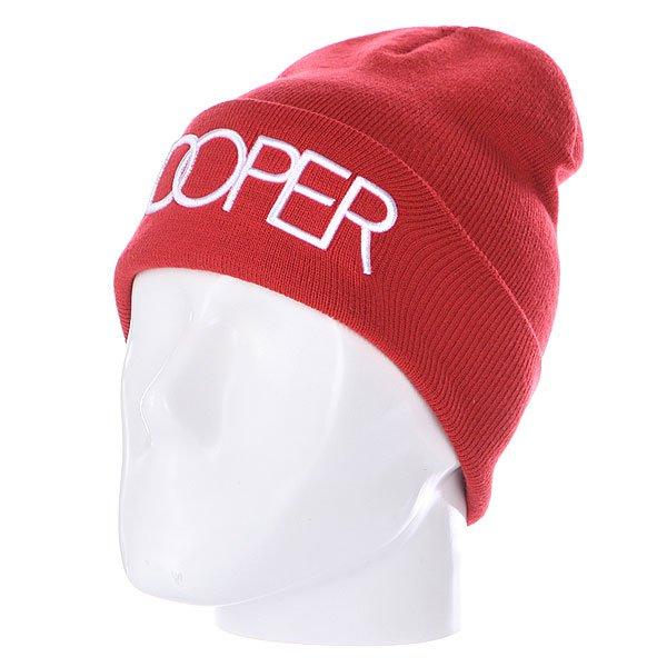 Шапка TrueSpin Doper Beanies Red<br><br>Цвет: красный<br>Тип: Шапка<br>Возраст: Взрослый