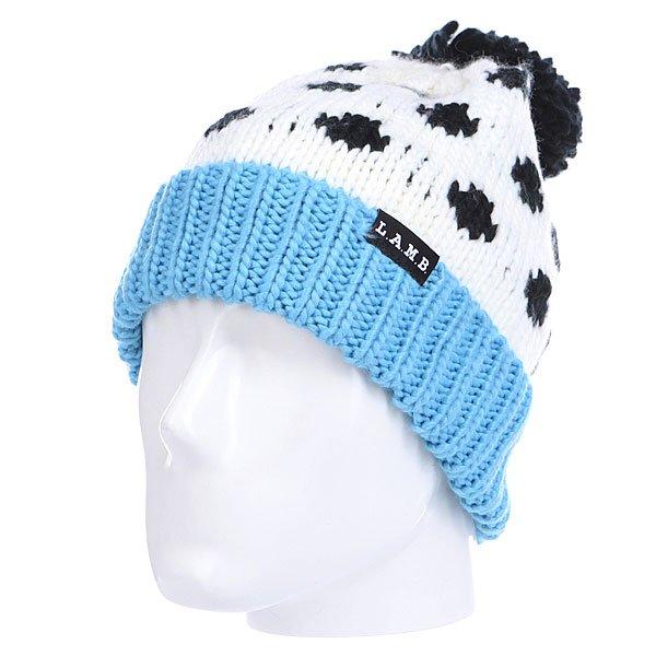 Шапка с помпоном женская Burton Lamb Pom Beanie Dalmatian<br><br>Цвет: белый,черный,голубой<br>Тип: Шапка<br>Возраст: Взрослый<br>Пол: Женский