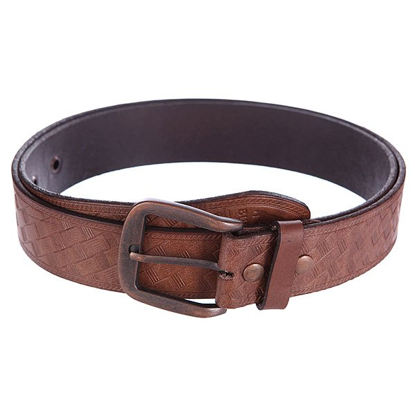 ������ Burton Mb Embassed Leather Belt Brown