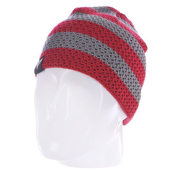 Шапка Fallen Buffalo Striped Knits Beanie Grey/Oxblood шапка fallen buffalo striped knits beanie grey oxblood