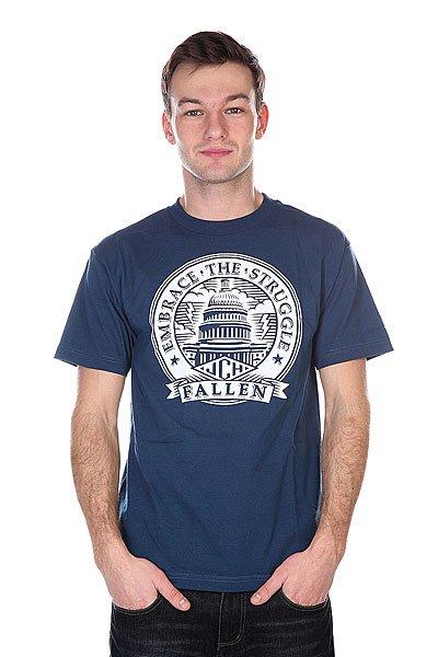 Футболка Fallen Capitol Shirt Harbor Blue/Black<br><br>Цвет: синий<br>Тип: Футболка<br>Возраст: Взрослый<br>Пол: Мужской
