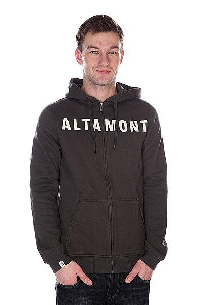 Толстовка Altamont Drier Zip Fleece Worn Black<br><br>Цвет: серый<br>Тип: Толстовка классическая<br>Возраст: Взрослый<br>Пол: Мужской