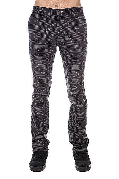 Штаны прямые Etnies Classic Slim Chino Pant Black/Grey штаны прямые enjoi boo khaki slim chino true black