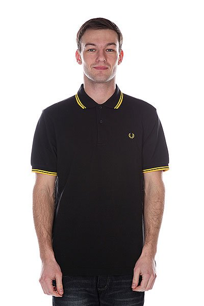 ���� Fred Perry Twin Tipped Shirt Old Black