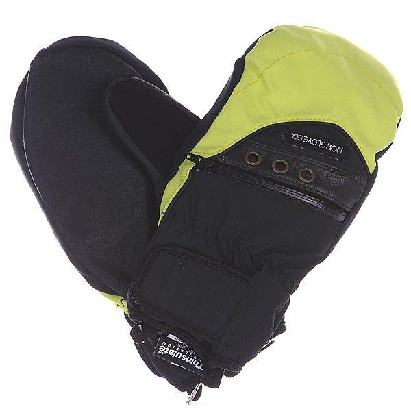 Варежки сноубордические женские Pow Astra Mitt Solar<br><br>Цвет: черный,зеленый<br>Тип: Варежки сноубордические<br>Возраст: Взрослый<br>Пол: Женский