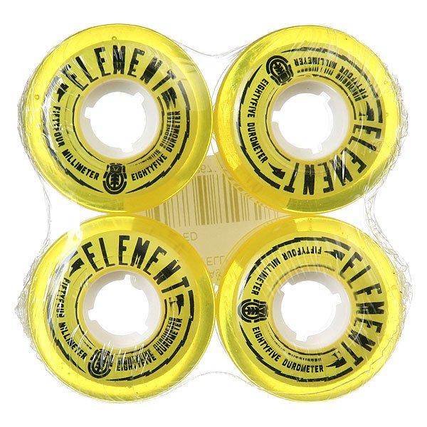 Колеса для скейтборда для скейтборда Element Filmer Yellow 85A 54 mmДиаметр: 54 mm    Жесткость: 85A    Цена указана за комплект из 4-х колес<br><br>Цвет: желтый<br>Тип: Колеса для скейтборда